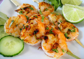 Shrimp Brochetas